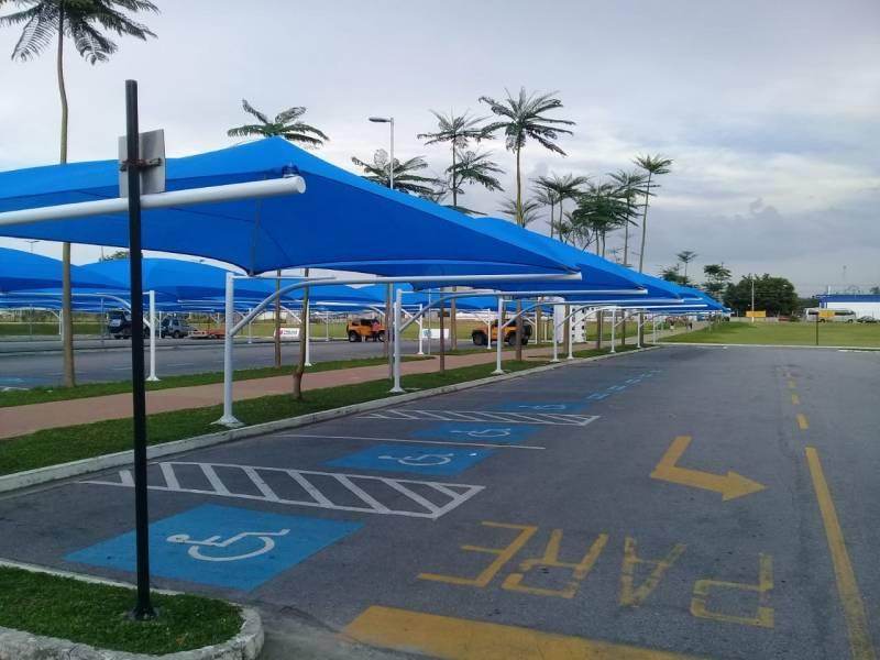 Sombrites para Estacionamento em Mercado Caraguatatuba - Sombrite de Estacionamento em Supermercado
